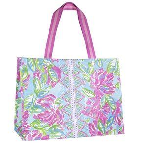 Lilly Pulitzer Blue/Green XL Market Shopper Bag